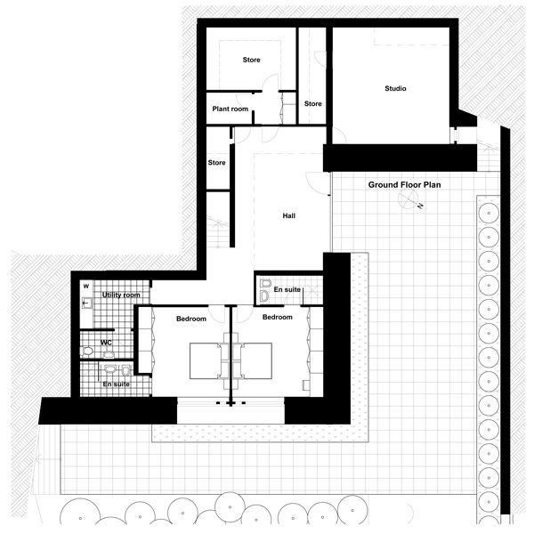 Modern Style House Plan - 3 Beds 4 Baths 4119 Sq/Ft Plan #520-5 Floor Plan - Main Floor Plan