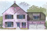 Traditional Style House Plan - 4 Beds 3.5 Baths 2728 Sq/Ft Plan #901-50 Exterior - Front Elevation