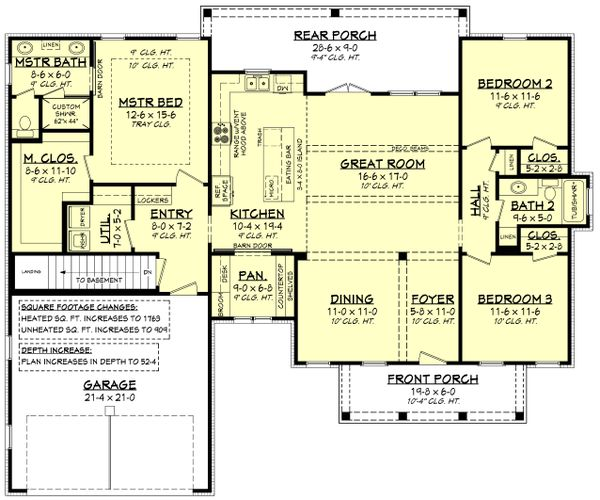 Architectural House Design - Farmhouse Floor Plan - Other Floor Plan #430-221