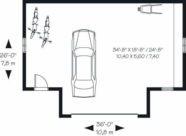 Traditional Floor Plan - Main Floor Plan Plan #23-768