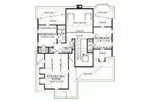 Southern Floor Plan - Upper Floor Plan Plan #137-293