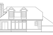 Dream House Plan - Contemporary Exterior - Rear Elevation Plan #124-323