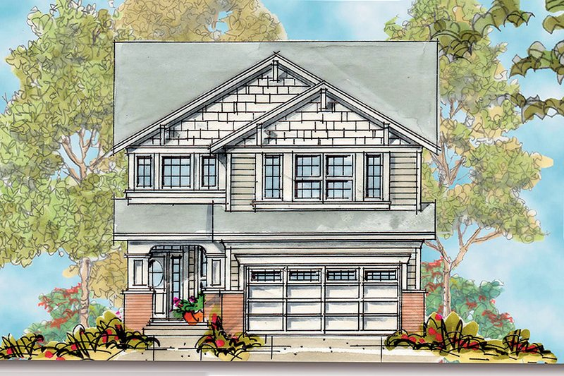 Craftsman Style House Plan - 4 Beds 3 Baths 2346 Sq/Ft Plan #20-1694