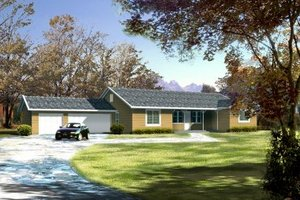 Ranch Exterior - Front Elevation Plan #1-416