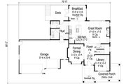 Farmhouse Style House Plan - 4 Beds 3.5 Baths 3035 Sq/Ft Plan #51-441 Floor Plan - Main Floor Plan