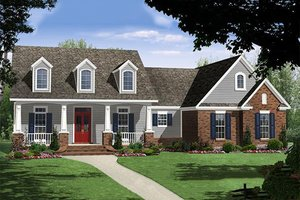 Country Exterior - Front Elevation Plan #21-352