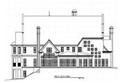 European Style House Plan - 5 Beds 4 Baths 4697 Sq/Ft Plan #119-201 Exterior - Rear Elevation