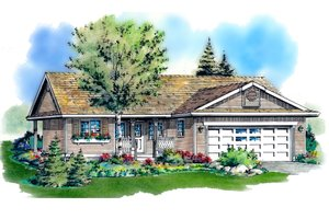 Dream House Plan - Ranch Exterior - Front Elevation Plan #18-1001