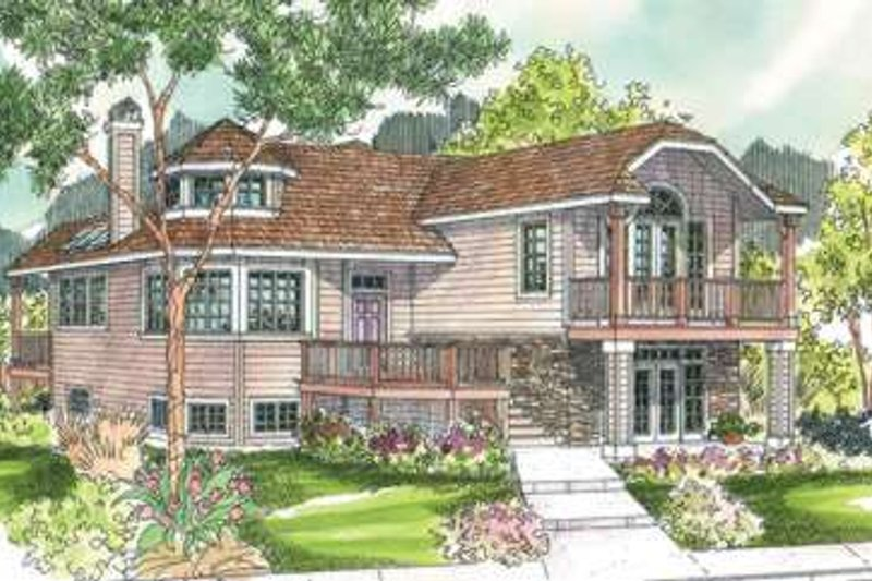 Traditional Style House Plan - 2 Beds 3 Baths 1940 Sq/Ft Plan #124-581 Exterior - Front Elevation