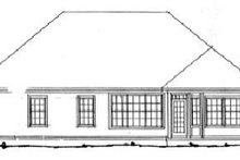 Home Plan - Traditional Exterior - Rear Elevation Plan #20-327