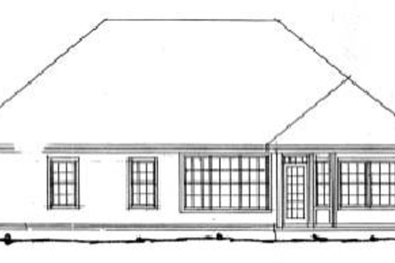 Traditional Exterior - Rear Elevation Plan #20-327 - Houseplans.com