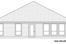 Home Plan - Traditional Exterior - Rear Elevation Plan #84-563