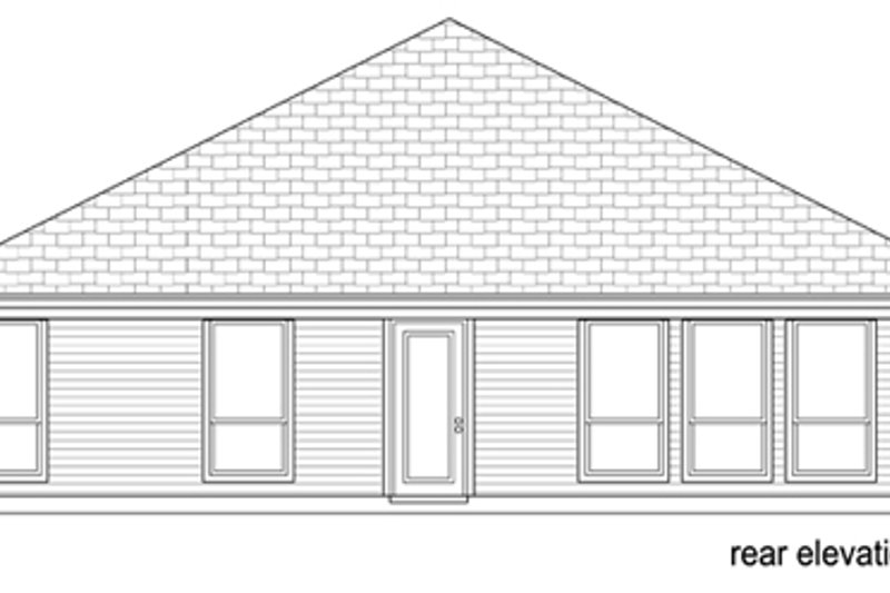 Traditional Exterior - Rear Elevation Plan #84-563 - Houseplans.com
