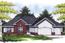 Dream House Plan - Traditional Exterior - Front Elevation Plan #70-829