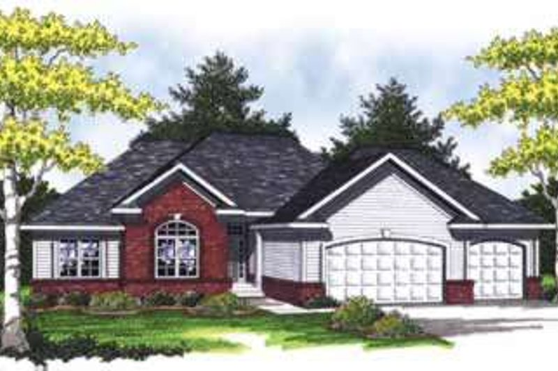 Traditional Exterior - Front Elevation Plan #70-829 - Houseplans.com