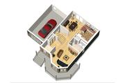 Victorian Style House Plan - 3 Beds 1 Baths 1705 Sq/Ft Plan #25-4700 Floor Plan - Main Floor Plan