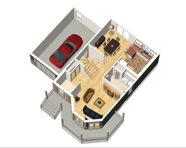 Victorian Floor Plan - Main Floor Plan Plan #25-4700