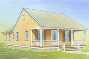Cottage Style House Plan - 2 Beds 2 Baths 888 Sq/Ft Plan #514-11