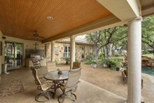 Mediterranean Exterior - Outdoor Living Plan #80-124