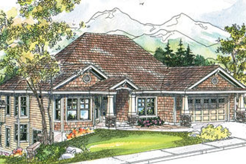 Traditional Exterior - Front Elevation Plan #124-620 - Houseplans.com