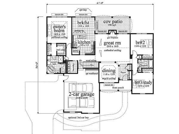 European Floor Plan - Main Floor Plan Plan #459-1