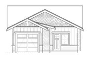Craftsman Style House Plan - 2 Beds 2 Baths 999 Sq/Ft Plan #895-47 Exterior - Rear Elevation