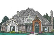 European Style House Plan - 4 Beds 3.5 Baths 2893 Sq/Ft Plan #310-992 Exterior - Front Elevation