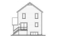 Home Plan - Country Exterior - Rear Elevation Plan #23-2179