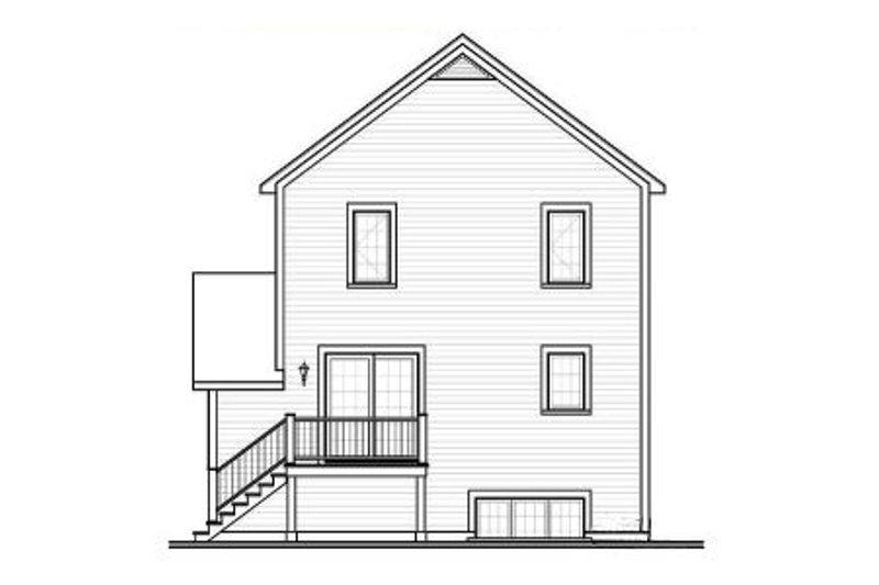 Country Exterior - Rear Elevation Plan #23-2179 - Houseplans.com