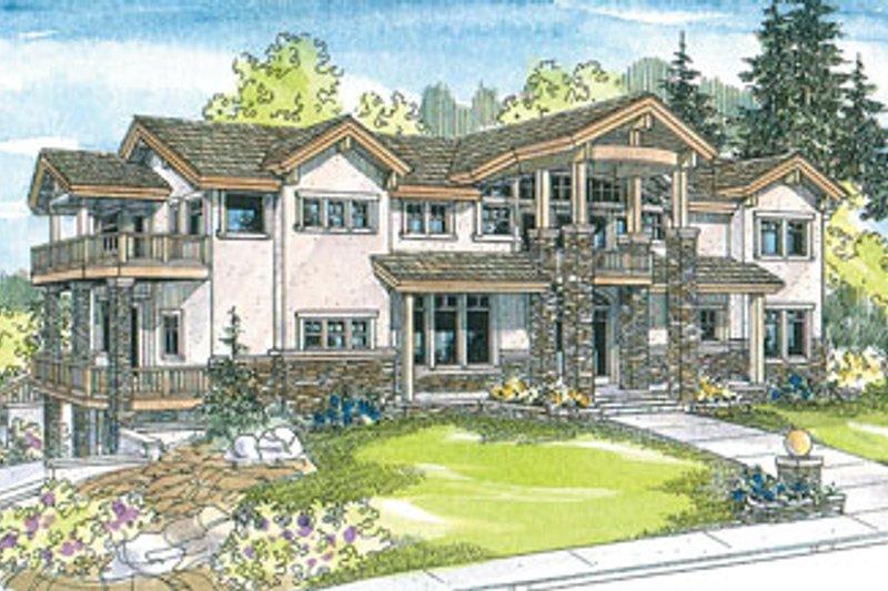 Craftsman Exterior - Front Elevation Plan #124-516