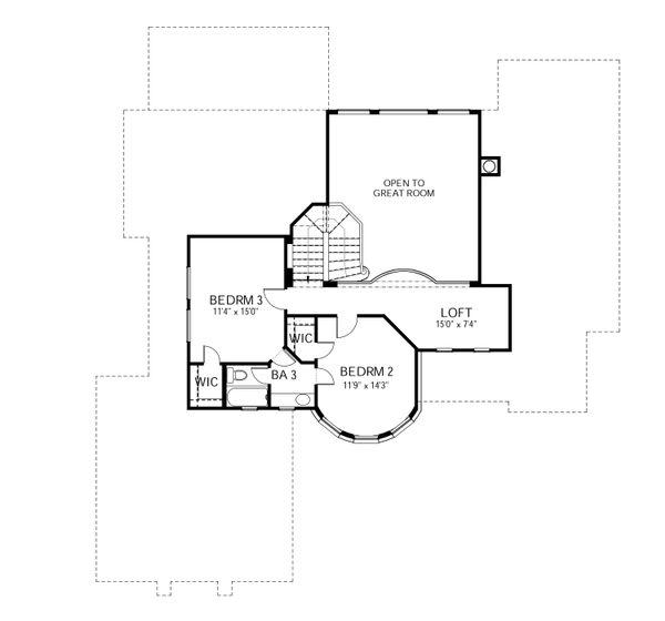 European Floor Plan - Upper Floor Plan Plan #80-168