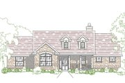 Country Style House Plan - 3 Beds 2.5 Baths 1939 Sq/Ft Plan #80-203 Exterior - Front Elevation