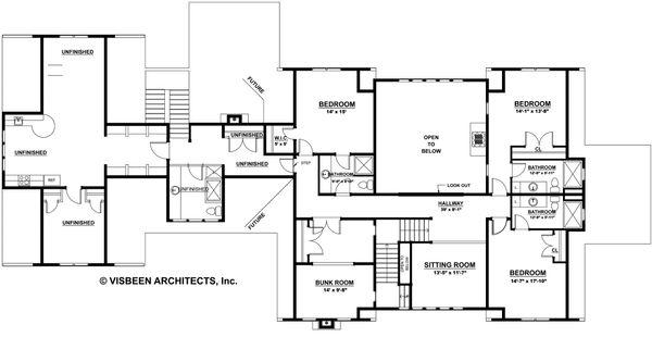 Country Floor Plan - Upper Floor Plan #928-276