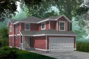 Traditional Style House Plan - 3 Beds 2.5 Baths 1780 Sq/Ft Plan #100-413 Exterior - Front Elevation