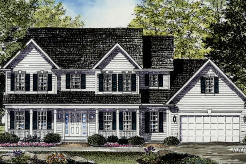 Country Exterior - Front Elevation Plan #316-106 - Houseplans.com