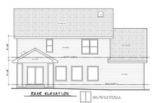 Architectural House Design - Traditional Exterior - Rear Elevation Plan #20-2403