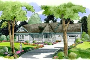 Country Exterior - Front Elevation Plan #312-518