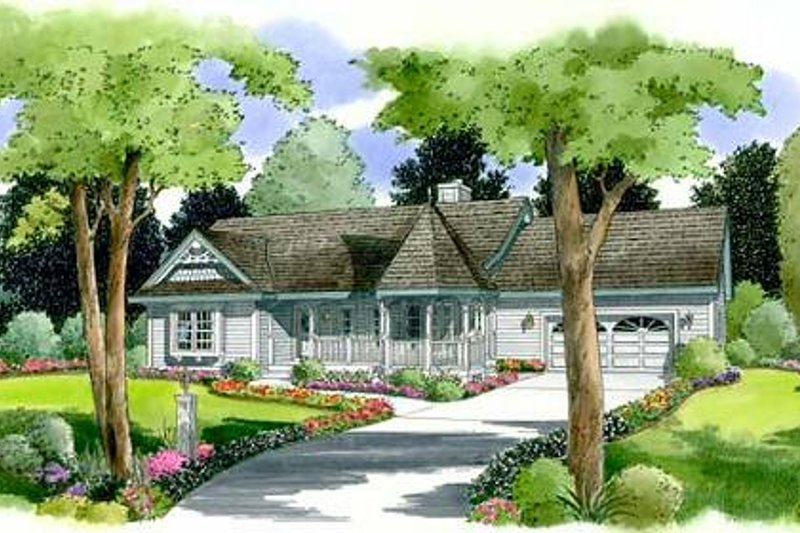 Country Style House Plan - 3 Beds 2 Baths 1452 Sq/Ft Plan #312-518