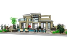 Modern Exterior - Rear Elevation Plan #484-2