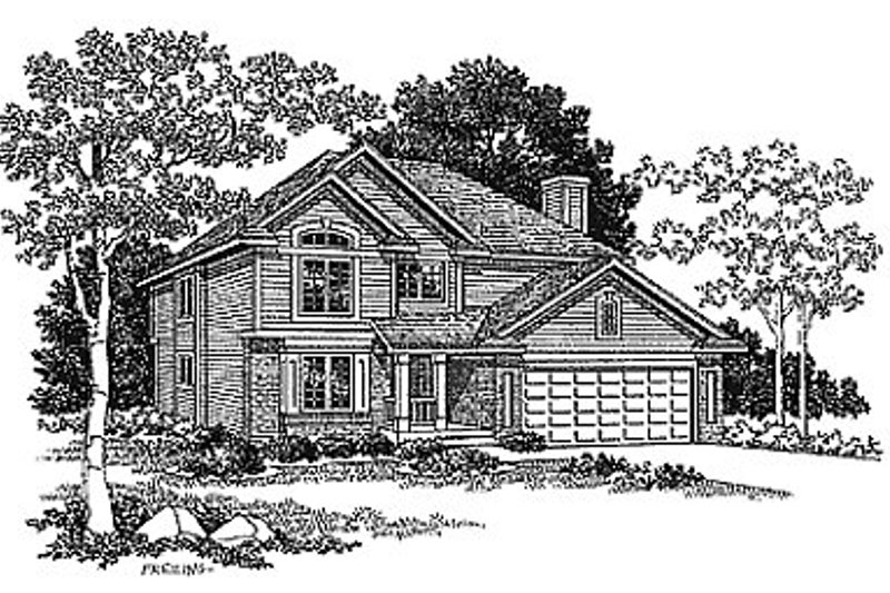 Traditional Exterior - Front Elevation Plan #70-307