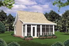 Home Plan Design - Cottage Exterior - Rear Elevation Plan #21-205