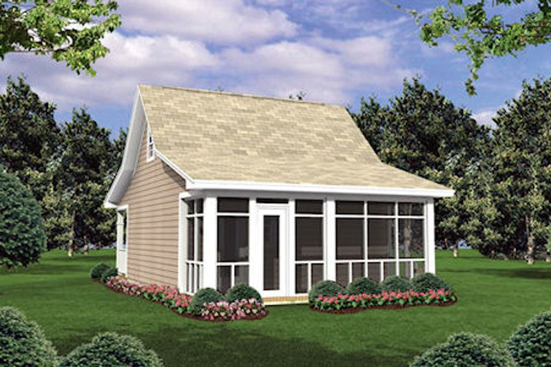 Cottage Exterior - Rear Elevation Plan #21-205 - Houseplans.com