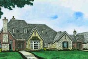 European Style House Plan - 4 Beds 4.5 Baths 4306 Sq/Ft Plan #310-1296 Exterior - Front Elevation