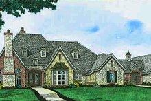 Home Plan - European Exterior - Front Elevation Plan #310-1296