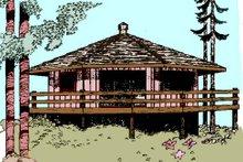 Dream House Plan - Modern Exterior - Other Elevation Plan #60-104
