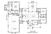 European Style House Plan - 3 Beds 2.5 Baths 2700 Sq/Ft Plan #932-22 Floor Plan - Main Floor Plan