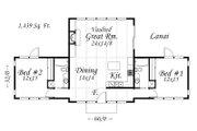 Modern Style House Plan - 2 Beds 2 Baths 1439 Sq/Ft Plan #509-31 Floor Plan - Main Floor Plan