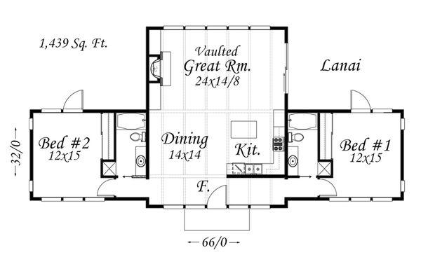Modern Floor Plan - Main Floor Plan Plan #509-31