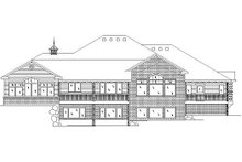 Architectural House Design - European Exterior - Rear Elevation Plan #5-229