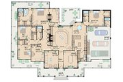 Traditional Style House Plan - 4 Beds 4 Baths 3388 Sq/Ft Plan #36-234 Floor Plan - Main Floor Plan